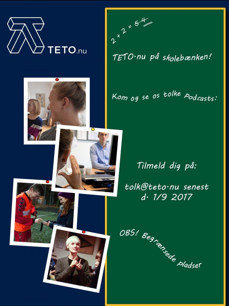 Supervision i TETO.nu. Kom og se os tolke podcasts